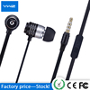 Hot sell stereo cheap mp3 3.5mm diy headphone creative sport in-ear earphone with flat cable