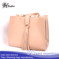 AL-023 2017 Trendy Tassel Tote Bags Wholesale Handbags Purse Made In China