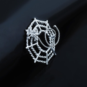 Hot selling piercing jewelry anti allergy stainless steel spider net shape Non piercing Nipple ring