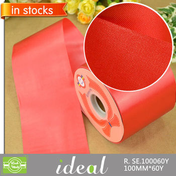 factory wholesale big size lacerable red polyester satin ribbon
