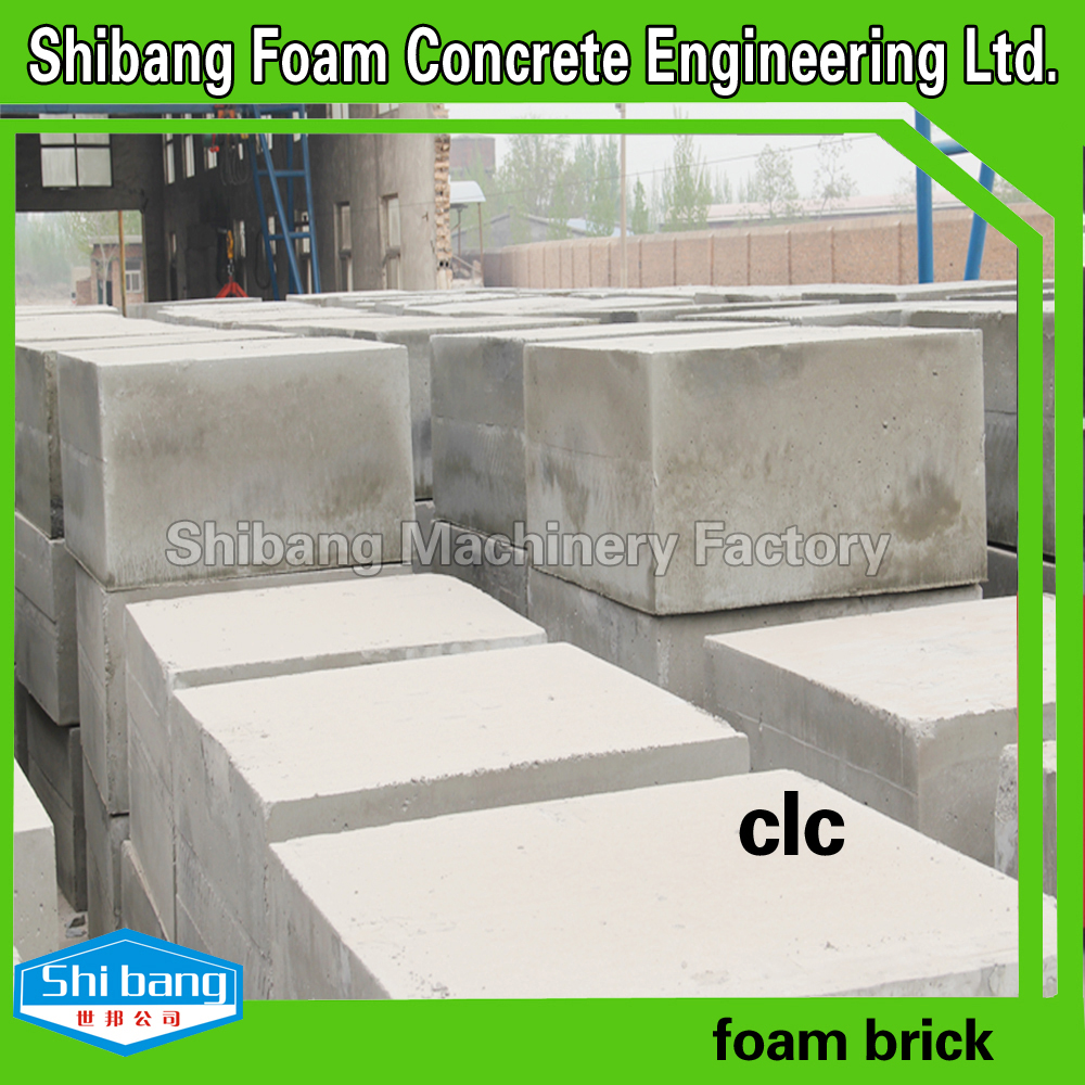 Foam concrete block equipment building construction for Cement foam blocks