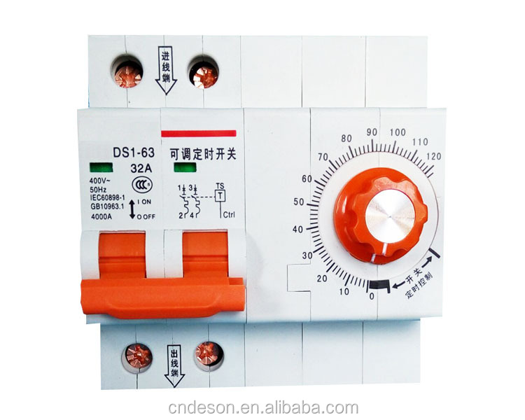 automatic timer switch, manual timer switch, mini electric timer switch 63A 230V