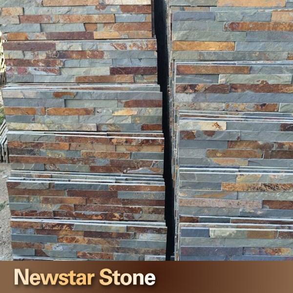 Recubrimiento de paredes de piedra natural chino pizarra - Recubrimiento de fachadas ...