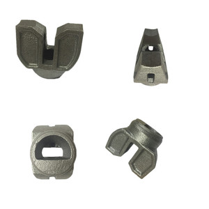 Lost wax casting and sand casting ringlock scaffolding steel ledger end brace end for galvanised tube