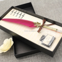 2017 Promotion Gift feather quill Fountain Pen calligraphy Dip Pen