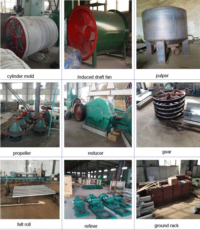 toilet paper machinery main parts