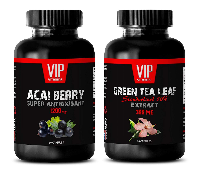 weight loss -ACAI BERRY - GREEN TEA - green tea extract capsules - (2 Bottles Combo)