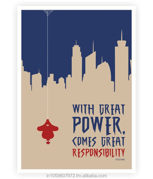 Grande Potere Derivano Grandi Responsabilità Voltaire Citazioni Poster Buy Voltaire Poster Product On Alibaba Com