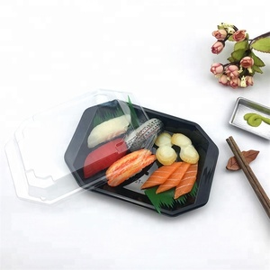 Wholesale Plastic Party Tray Disposable Boat Sushi Food Packaging Container Tray