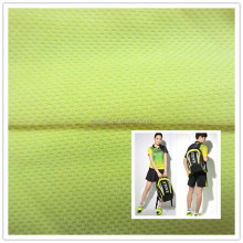 Moisture wicking 160gsm plastic bird eye mesh fabric for sports T shirt from china supplier