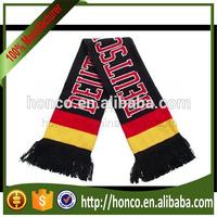 Germany football fan acrylic jacquard scarf/germany knitting scarf for UEFA EURO 2016