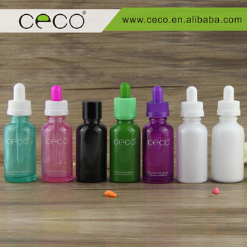 glass bottle manufacturers for e liquid e juice colored glass bottles with kinds of caps