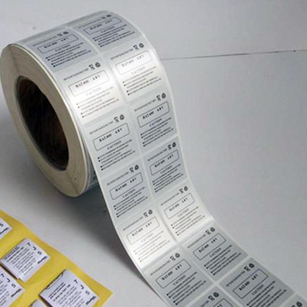 Label Printing Silver Aluminum Foil Sticker Paper Buy