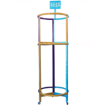 Round style power coated rich colors clothes drying rack