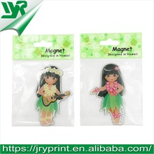 JRY Hawaii girl epoxy magnet for refrigerator