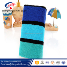 Wholesale polyester and cotton stripe beach towel