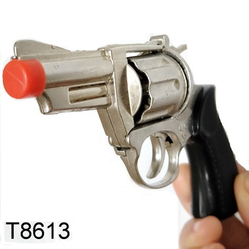 6-inch children's funny toy that meets safety standards, metal 8 shots ring cap gun toy gun for adult entertainment