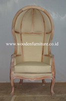 French Style Canopy Chair Antique Reproduction Chair Classic European Style Home Furniture