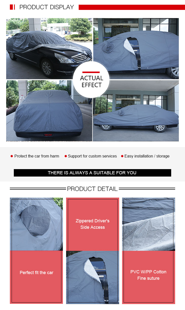 Factory Direct PVC Cotton Rainproof Tyvek Car Cover
