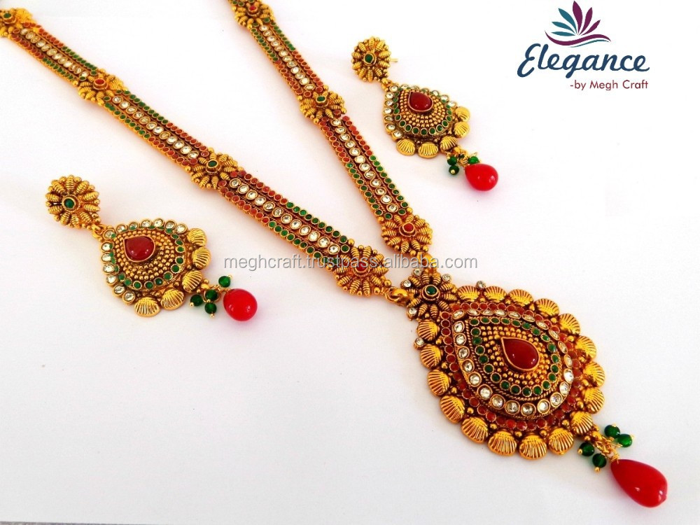 One Gram Gold Plated Long Bridal Jewellery-south Indian Rani Haar ...