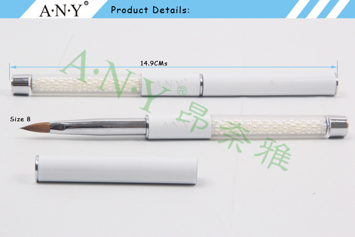 Any nail art design care pure color pearl handle pure sable nail any nail art design care pure color pearl handle pure sable nail art brush prinsesfo Gallery