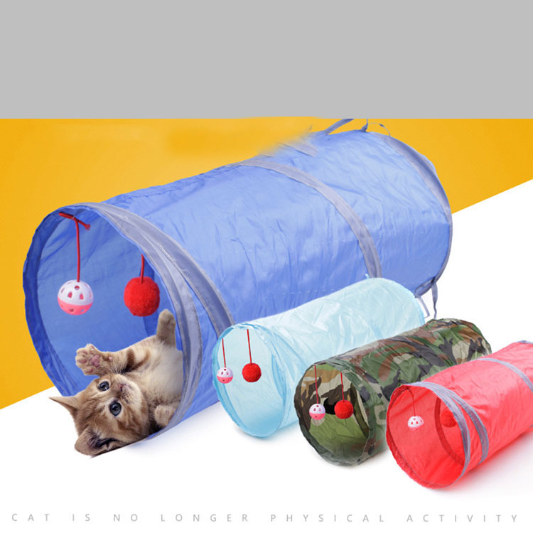 Hot selling colorful cat tunnel cat play cube tunnel cat collapsable tunnel