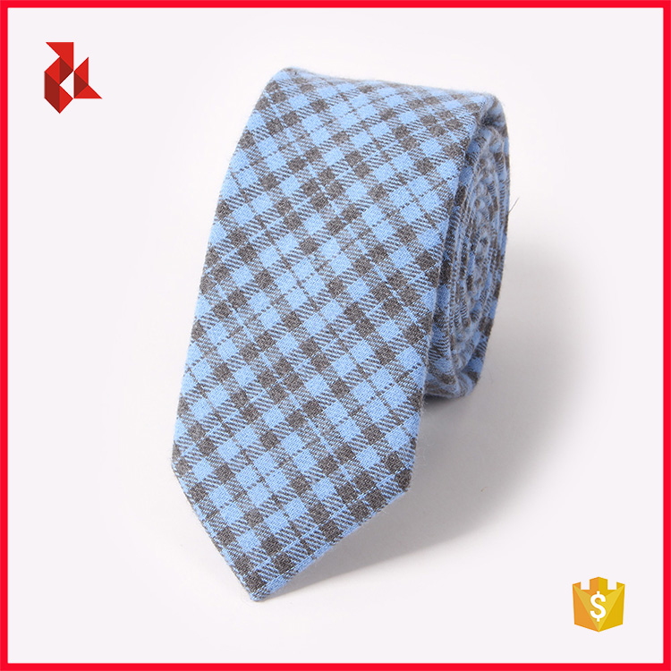 Top Quality Check Patterns 100% Cotton Neck Ties Men