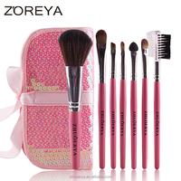 7 pcs zoreya cheap stock wholesale sequin makeup brush set