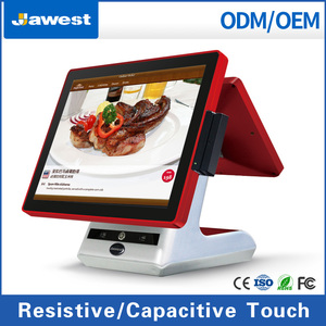 Jawest Factory Supplier food order online point of sale display stand android pos terminal AR1532A with android pos keyboard