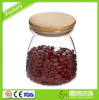 wholesale high borosilicate high quality Clear food storage glass jar