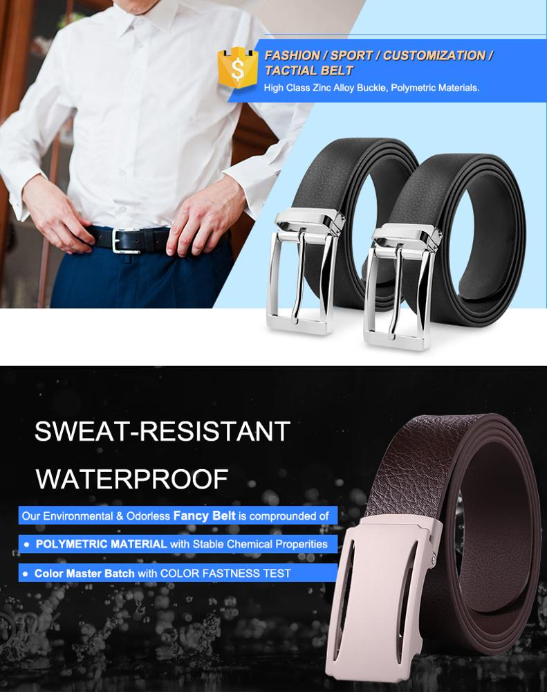 Classic Mens Formal Leather Belt Waist Metal Pin Buckle Designer Belts With Clip