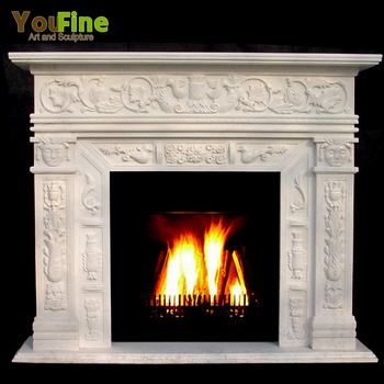 Handcarved Modern White Marble Fireplace Mantel Mantels For Sale ... 4ef5608b57