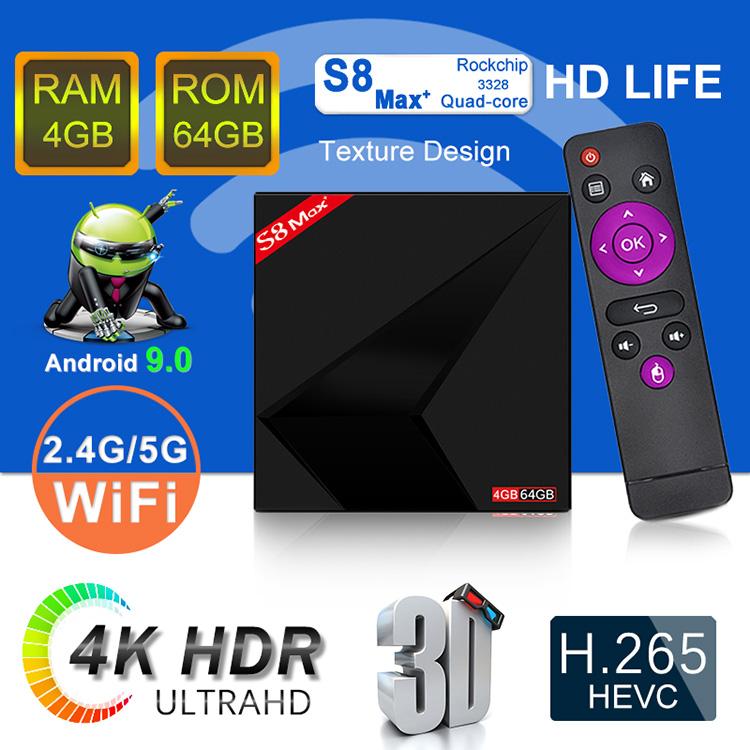 YUTMART Android TV Box S8 max plus Box TV , S9 pro, S10 MINI in good price,  View S8 max plus Android tv box, YUTMART Product Details from Shenzhen W&F