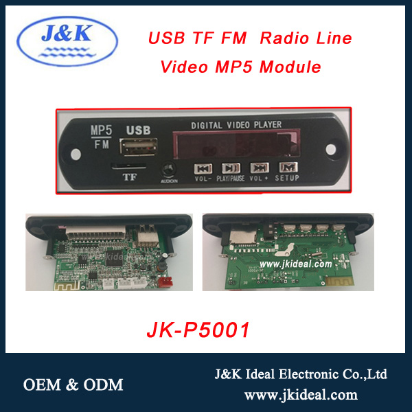 JK-P5001 For HD midea audio fm MP3 MP4 MP5 player decoder board