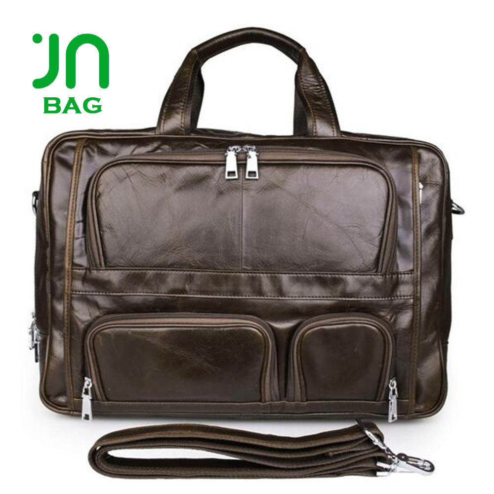JIANUO Used leather computer bags notebook bag for laptop business computer case