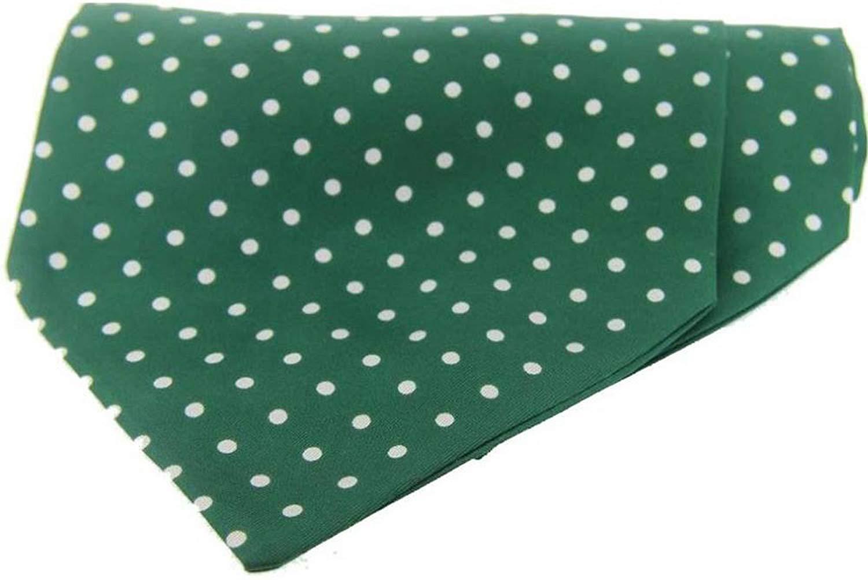 Buy Green Polka Dot Spot On White Back Pvc Oilcloth Vinyl