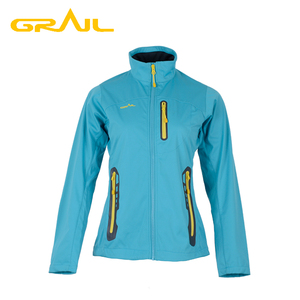 Manufactory waterproof 100% polyester soft shell hiking outdoor jacket women
