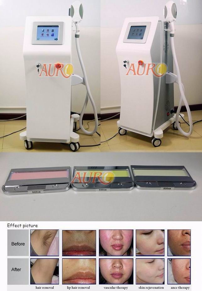 AU-S500 3 in 1 OPT SHR Hair Removal Machine