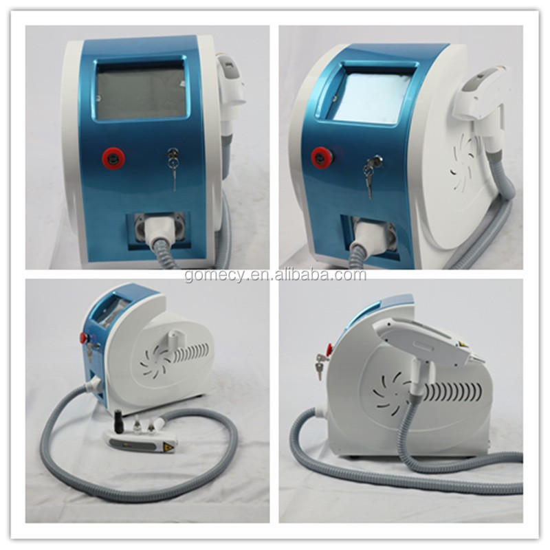 Gomecy black blue cyan color remove  Switched Nd Yag Laser Tattoo Removal Machine with Advanced Nd Yag Laser
