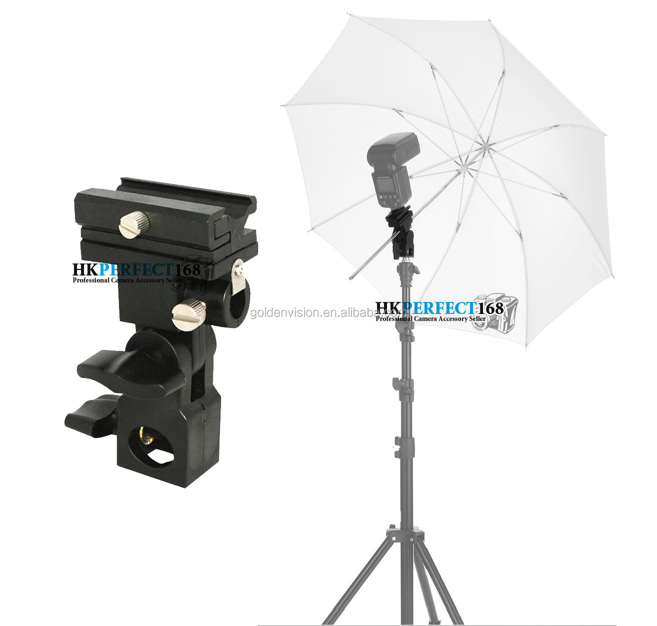 Flash Shoe Umbrella Holder Stand Bracket Kernel L Light Adjustable Mount For Dslr Camera Suppliers And Manufacturers At