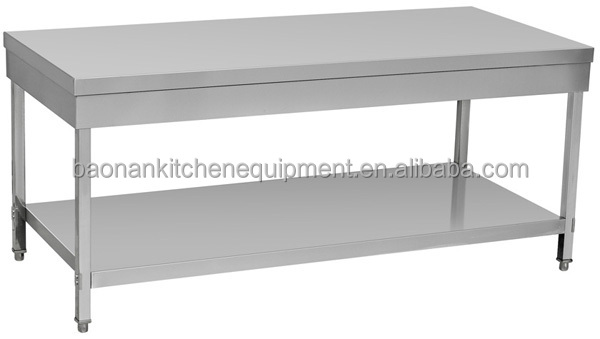 stainless steel pizza prep table for restaurant equipment