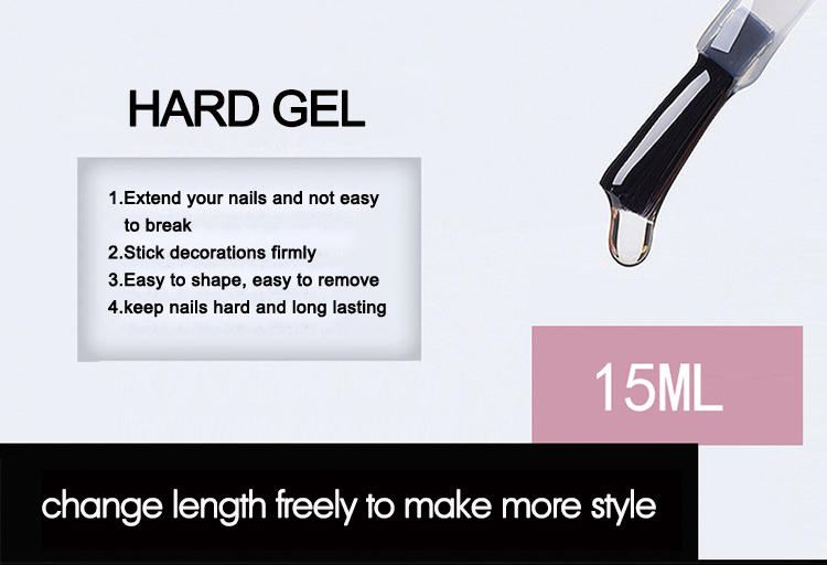 Mixcoco 2019 Hot Selling Product Nail Extension Gel Nail Hard Builder Gel