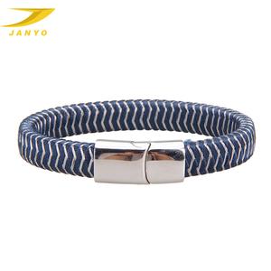 Braided Nylon and Stainless Steel Bracelet for Man and Woman Handmade Bracelet