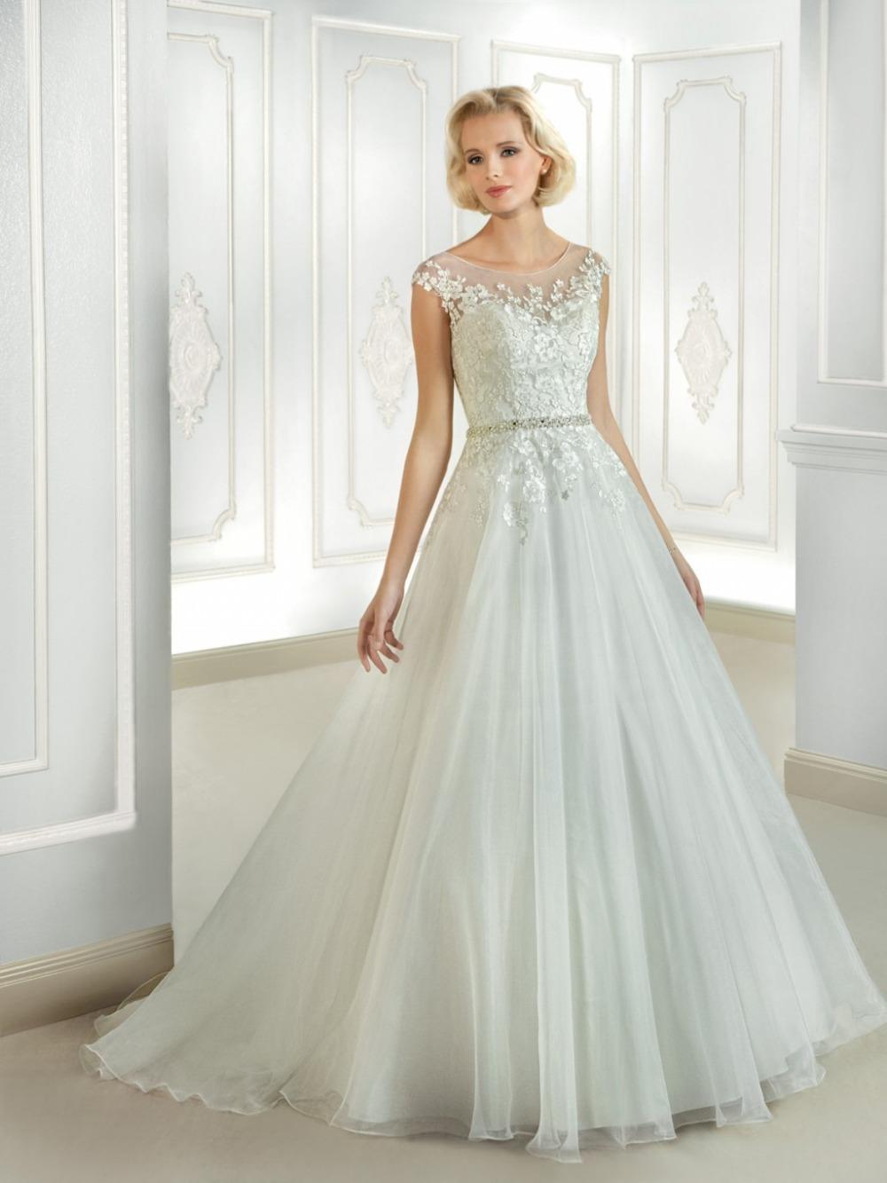 Vestido de noiva Ball Gown Wedding Dress See Through Back ...