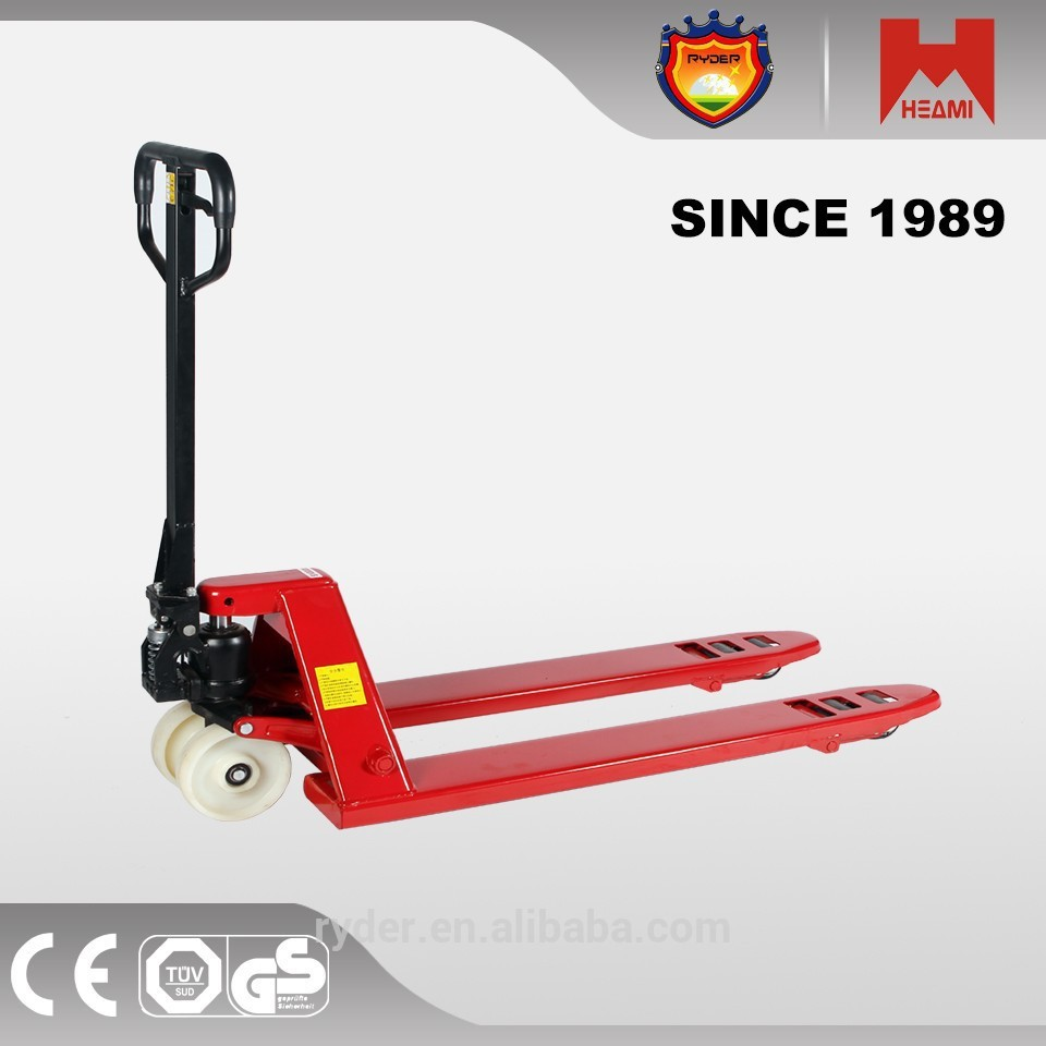 high lift hydraulic hand pallet truck arm with perforating wheels