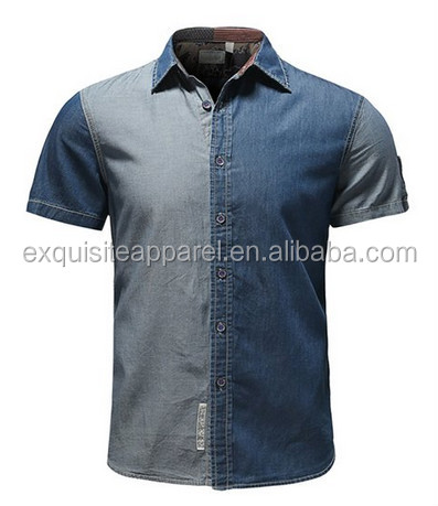 207cb1b3b4 Custom Western Cowboy Shirts Jean Men Shirts Casual Denim Shirt Men  Wholesale