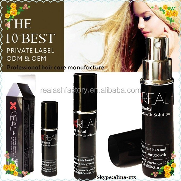 Hair growth spray restore hair building fiber Real+ hair loss spray OEM service