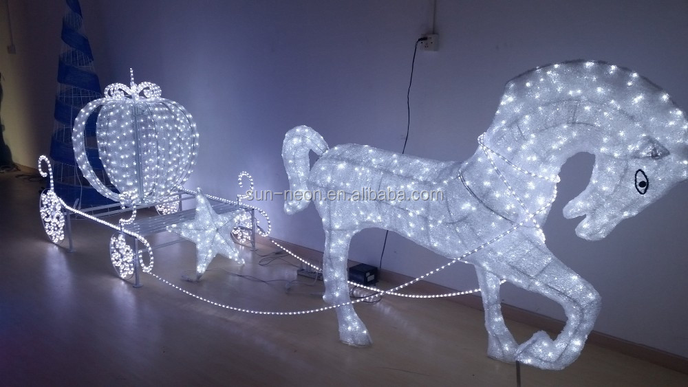 Outdoor Christmas Decoration Horse