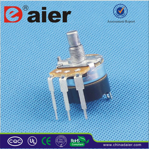 WH138-1A-1-RE audio taper guitar potentiometers with long terminals