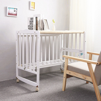 Alibaba Supply LOW MRQ Wooden Baby Space Saver Cot Bed Bedside Bed Baby  Crib Bedding Sets